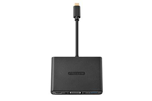 Sitecom CN-Adaptador 364-USB-USB/C a Mini-USB VGA/C, Color Negro