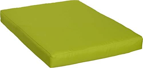 Beo Beo LKP 80x60PY203 Loungekissen Sofakissen Palettenkissen mit Reissverschluss und wasserabweisendem Stoff, hellgrün, 80 x 60 cm
