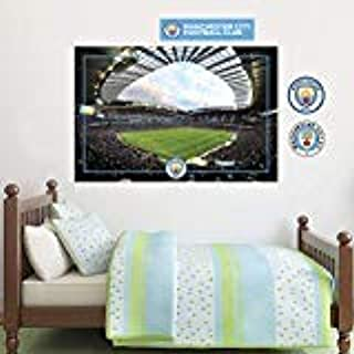 Official Manchester City Football Club - Etihad Stadium Wall Decal + Bonus Wall Sticker Set Decal Vinyl Poster Print Mural (120cm Width x 80cm Height)