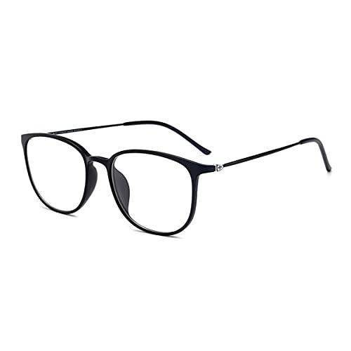 LGQ Nuevas Gafas de Lectura con Zoom Inteligente, Lente de Resina HD multifocal progresiva, a Prueba de arañazos, cómoda y Ultraligera, dioptrías +1,00 a +3,00,Negro,+1.50