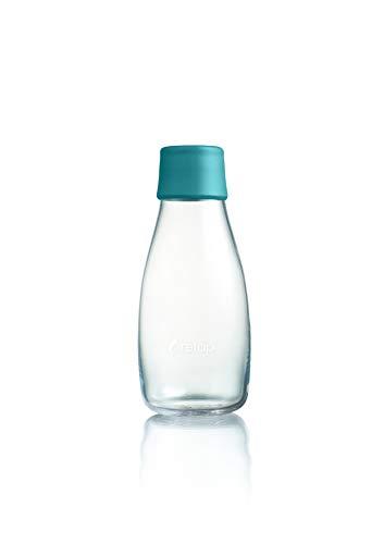 Retap 0.3 Botella de agua de cristal, verde petróleo, pequeño