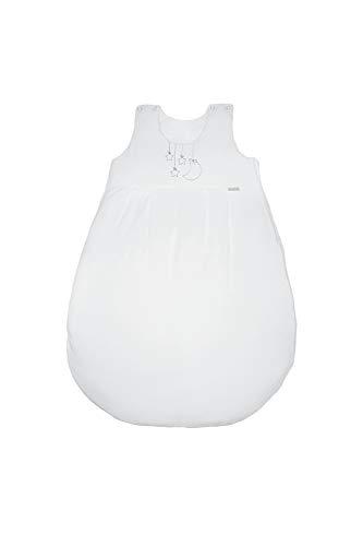 ZEWI bébé-jou Baby Ganzjahresschlafsack, Tencel, Größe: 86/92 (18-24 Monate), Weiss