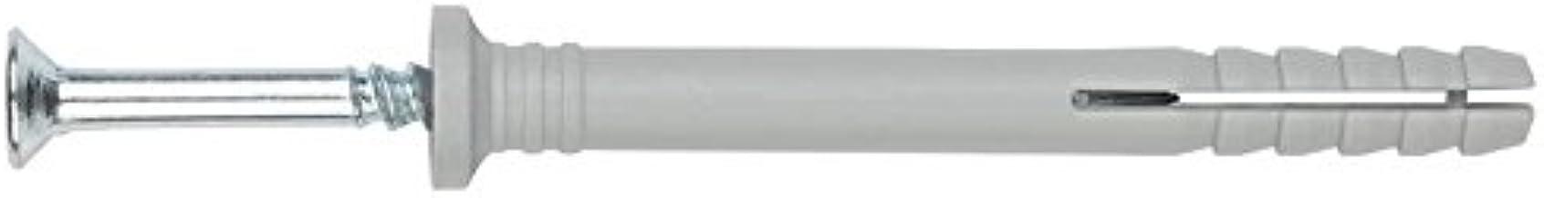 Fixtout clou t/ête frais/ée Blister de 10 chevilles nylon /à frapper t/ête frais/ée NHS D 8 x Lt Fixtout 140 mm