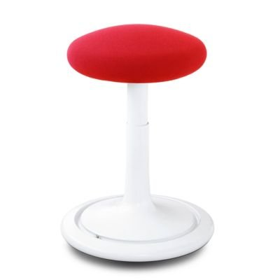 Ongo® Seat Hocker weiß/rot