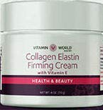 COLLAGEN ELASTIN FIRMING CREME With VITAMIN C - 4 Ounce Made in USA by VITAMIN WORLD