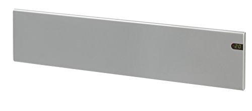ADAX Neo NL - Radiador eléctrico Moderno, Altura 200mm, 800W   Anticongelante   KDT Plateado   IP20C