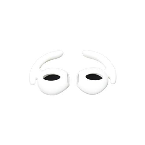 1 par de Silicona Suave Antideslizante Cubierta de Oreja Gancho Auriculares Consejos Auricular Reemplazo de la Funda para AirPods EarPods Cubierta-Blanco-1 Tamaño