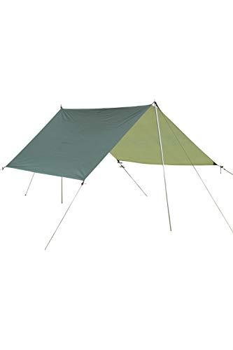 Mountain Warehouse Bâche de Tente imperméable de 2,85 m x 2,85 m - en Tissu Ripstop - Toile d'été idéale pour randonnée, Camping et activités extérieures Kaki Taille Unique