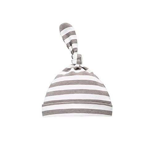Sombrero de bebé recién Nacido Accesorios de fotografía Gorra niños niño niña Kinderen Muts Gorro para niños Gorros para niños pequeños Touca Infantil-Grey Strips Hat-One Size