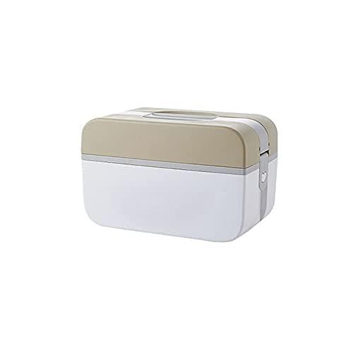 DLILI Caja de Medicina Familiar Caja de Primeros Auxilios Familiar Contenedor portátil de múltiples Capas para medicamentos domésticos para la Oficina Caja de Almacenamiento médico en el hogar COF