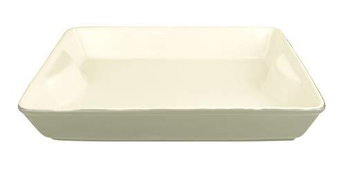 LE REGALO Stoneware Rectangular Baking Dish, 11''x8''x2'', White