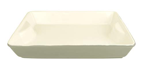 LE REGALO Stoneware Rectangular Baking Dish, 11''x8''x2'', White