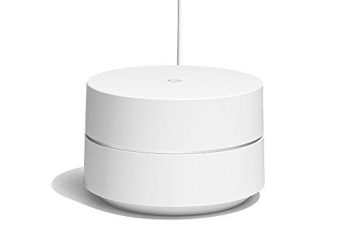 Google Wifi, Sistema Wifi Mesh, Copertura fino a 85 m², Velocità Dual-band AC1200 (fino a 1.2 Gbps), Installazione e controllo tramite App Google Wifi, Versione Italiana (1 dispositivo incluso)