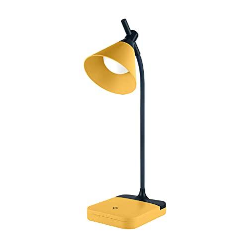 Lámpara Escritorio LED, Weskjer Lámpara de Mesa, Flexo LED Escritorio, Luz Lectura Protección Ocular, 3 Niveles de Brillo, 360 °Cuello Flexible