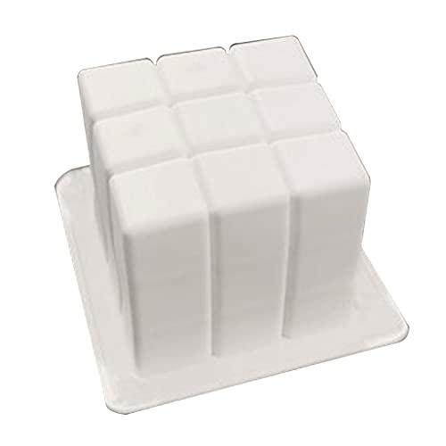 PHILSP 3D Cartoon Bakeware Herramientas Sugarcraft Molde Pastel Molde Huellas Mano Forma Forma Ambiental Regalo Alimento-grado Silicona Blanco A