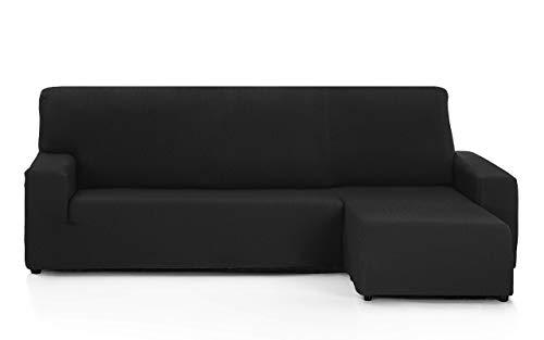 FEIGER Funda de sofá Tunez para Chaise Longue, 32 x 17 x 42 cm Brazo Corto Derecho (Vista Frontal) 32x17x42 cm Negro