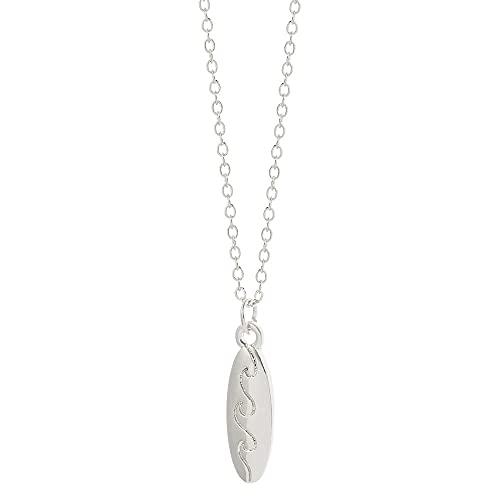 QAQV Collar De Tabla De Surf Para Mujer Encanto Collar De Clavícula Simple Me Encanta La Cadena De Surf Gift-Xl2238