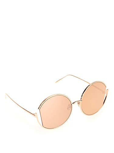 Linda Farrow Luxury Fashion Donna LFL851C3 Oro Metallo Occhiali Da Sole   Stagione Permanente