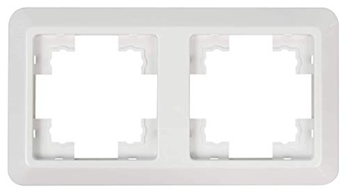 MC POWER - 2-fach Rahmen | CUP | weiß, poliert