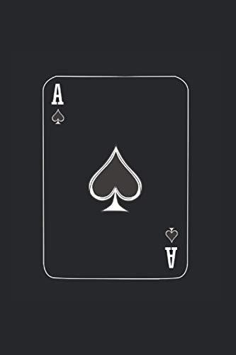 Notizbuch: Poker Kartenspieler Pik As Halloween Notizbuch DIN A5 120 Seiten für Notizen Zeichnungen Formeln | Organizer Schreibheft Planer Tagebuch