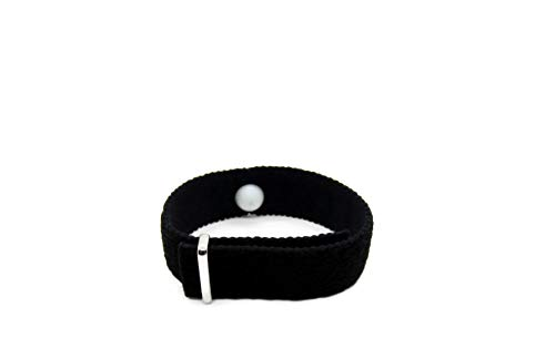 Hot Flush Relief, Menopause Bracelet, Hot Flush Bracelet, Acupressure, Sleep Aid (Single Band) Black (Large 8 in.)