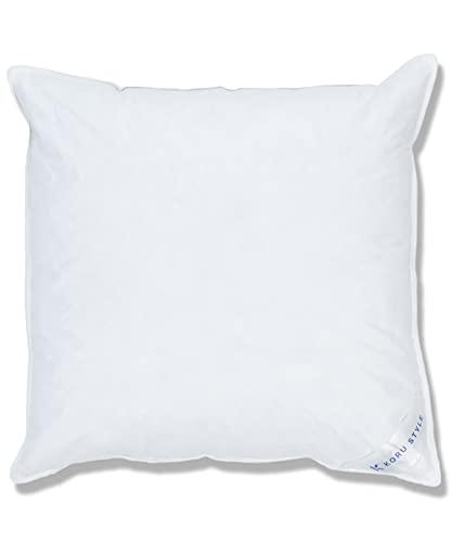 Koru Style Superior Almohada de 80 x 80 plumón – Tamaño 80 x 80 cm – Cojín de plumas – 70% plumas / 30% plumón – Almohada 80 x 80 – Peso del relleno 850 g – Grado de dureza: suave