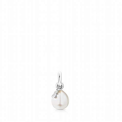 TOUS Tiny - Colgante de Plata de Primera Ley con Perla, Sin Cadena - Motivo: 0,9-0,95 cm