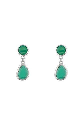 Córdoba Jewels | Pendientes en plata de Ley 925. Diseño Luxury Esmeralda