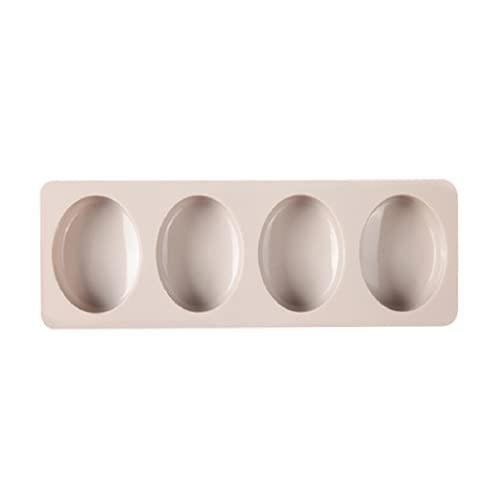 ShapeW Molde de jabón de silicona para 4 cavidades, molde de piedra de jabón hecho a mano, hecho a mano, molde de resina epoxi, fondant, molde para hacer pudín