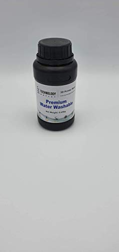 Technology Outlet Premium 3D Printer Water Washable Resin Black 250g