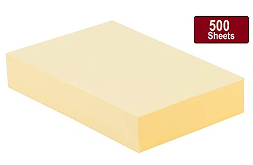 1InTheOffice Yellow Colored Copy Paper, Assorted Canary Yellow , 8.5 x 11 inch Letter Size, 20lb Density, (500 Sheets)