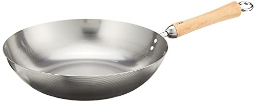 Joyce Chen 21-9979, Classic Series Carbon Steel Stir Fry Pan, 12-Inch,Silver