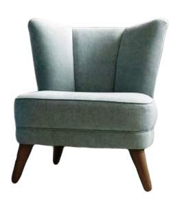 Home Plus One Seater Leather Chair (Grey; Large)