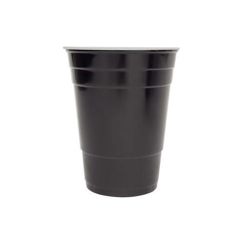 e684cc2b176 16 oz Disposable Black Plastic Party Cups 40 Pack Count 16oz