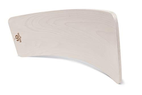 Kinderfeets, Kinderboard, Waldorf Original Wooden Balance Board for Toddlers, Kids, Teens, Adults (White Wash)