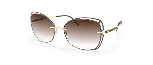 Silhouette Gafas de Sol ACCENT SHADES 8177 Brown/Brown Shaded talla única mujer