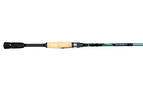 "Dobyns Rods Fury Series FR 703SF Medium Power Fast Action Spinning Rod, 7'0"", Black/Green"