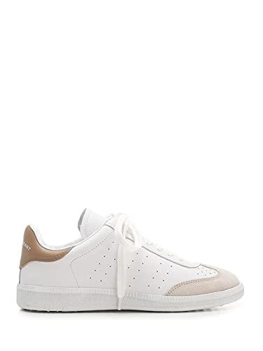 Isabel Marant Luxury Fashion Damen BK002921A036S90BE Weiss Leder Sneakers   Fw21