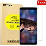 [2 Pack] Doogee MIX 2 Screen Protector, KATIAN HD Clear Protector [Anti-Scratch] [Anti-Fingerprint] [No-Bubble] [Case-Friendly], 9H Hardness Tempered Glass Screen Film for Doogee MIX 2