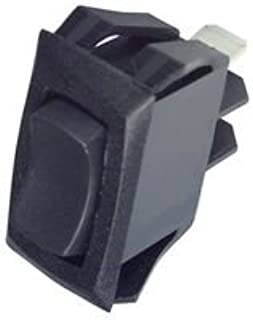 RC911-RB-B-0-N-Rocker Switch, Non Illuminated, SPDT, On-Off-On, Black, Panel, 16 A (1 Piece)