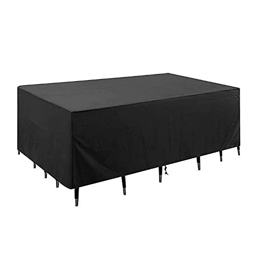 WANLIAN Funda para muebles de jardín impermeable, cubierta de muebles de jardín, impermeable, cubierta rectangular para muebles, impermeable, antiultravioleta (228,6 x 177,8 x 78,7 cm)
