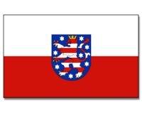 Stock-Flagge 30 x 45 : Thüringen