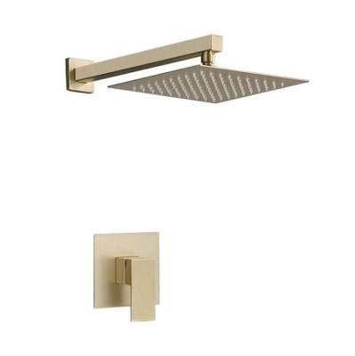 KaiMeiLin shower faucets sets complete shower faucets 10 Inches Rain Shower Head Bathtub Shower Systems Shower Valve and Trim Kit Pressure Balance Brass