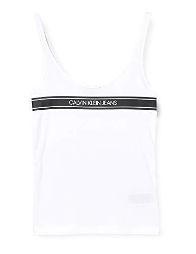 Calvin Klein Jeans damskie paski logo wycięty dekolt tank koszulka