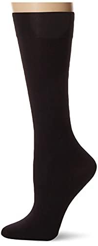 HUE Calcetines altos hasta la rodilla opacos para mujer (paquete de 3), Negro, 1