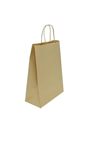 Carte Dozio - Shopper in Sealing color Avana, maniglia ritorta, f.to cm 18+8x24, cf 25 pz