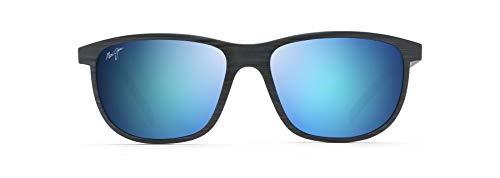 Maui Jim Dragons - Gafas de sol, Azul (Azul marino oscuro Rayas/Azul Hawaii Polarizado), Medium