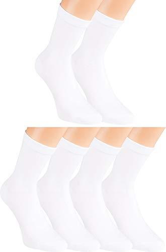 Vitasox 13310 Damen Socken Damensocken Ges&heitssocken Baumwolle ohne Gummi ohne Naht weiß 6er Pack 39/42