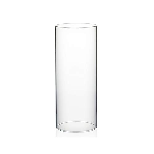 """WGVI Hurricane Candle Holder Sleeve, Wide 4"""", Height 10"""", Clear Glass Cylinder Open Both Ends, Chimney Tube, Open Ended Candle Shade, 1 Piece"""
