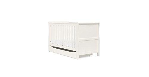 Mothercare Lit de bébé en traîneau Blanc